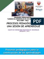Procesos Pedagógicos de una sesión de aprendizaje