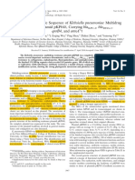 Articulo Clase Microbiologia 1_ Secuencia Del Plasmido MDR de Klebsiella Pneumoniae
