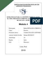 Estrategias Para La Gestión Curricular en El CEBA Santa Isabel de Huancayo
