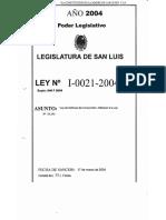 Legajo Ley I-0021-2004