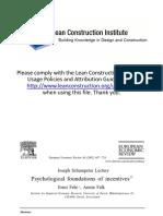 Psychological Foundations for Incentives