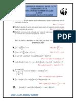 Ecuaciones diferenciales primer parcial