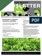 Productive Legume Pastures seminar
