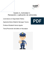 Sesión 6, Actividad 2. Planeación y Aplicación de Entrevista