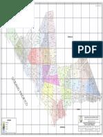 Distribución espacial de zonas vecinales Miraflores
