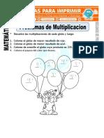 Ficha de Problemas de Multiplicacion Para Segundo de Primaria