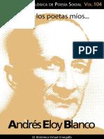 Cuaderno de Poesia Critica n 104 Andres Eloy Blanco