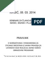 Pravilnik o Normativima i Standardima