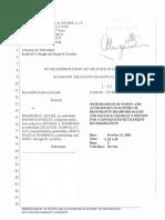 2005 10 07 Baugh P&A Settlement Malpractice Ramalingham