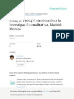 Flick U 2004 Introduccion a La Investigacion Cuali