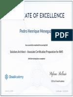 CloudAcademy Solutions Architect AWS - Pedro Henrique Menegazzi