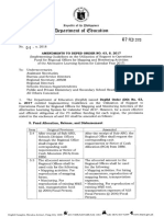 DO 04, s. 2018 - Amendments to DepEd Order No. 63, s. 2017 (Implementing Guidelines on the Utilization of Support to Operations Fund for Regional Offices for Mapping and Monitoring Activities of the Alternative Learning System for Cale