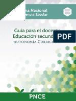 Autonomia Curricular Gu a Secundaria Docente