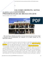 La Democracia Como Derrota. Notas Sobre Las Elecciones Presidenciales de México en 2018 _ Artillería Inmanente