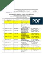 Time Table Tropical Disease Semester Pendek