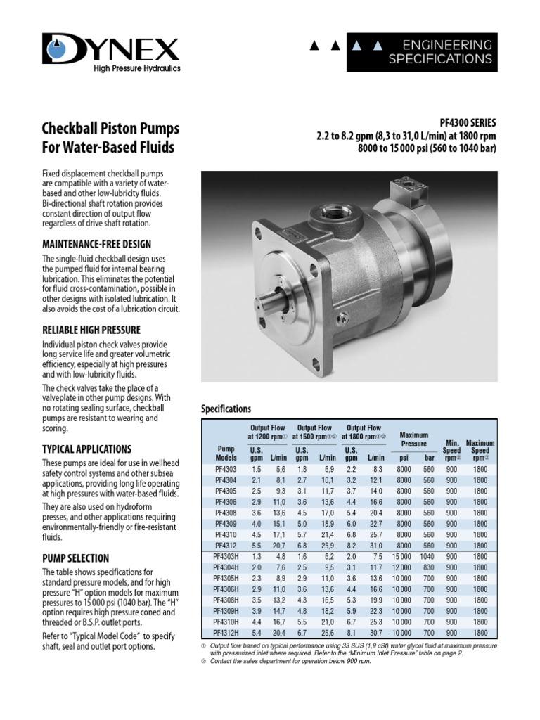 Dynex Pf 4300 Specs | Pump | Gas Technologies