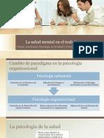 La Salud Mental en El Trabajo