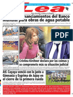 Periódico Lea Lunes 13 de Agosto Del 2018