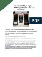 Jual Titan Gel Di Majalengka 082285956555 Agen Cream Titan Gel Majalengka