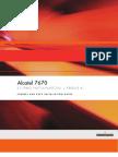 Alcatel 7670 Routing Switch Platform Cabinet & Rack Installation Release 4.0