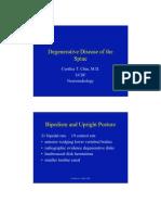 Degenerative Disease of the Spine