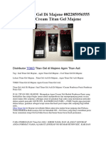 Jual Titan Gel Di Majene 082285956555 Agen Cream Titan Gel Majene