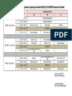 Jadwal MPLS 2018-2019