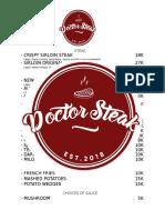 List Menu Dr. Steak FIX