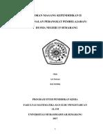 Laporan Magang Kependidikan II Di Sman 15 Semarang