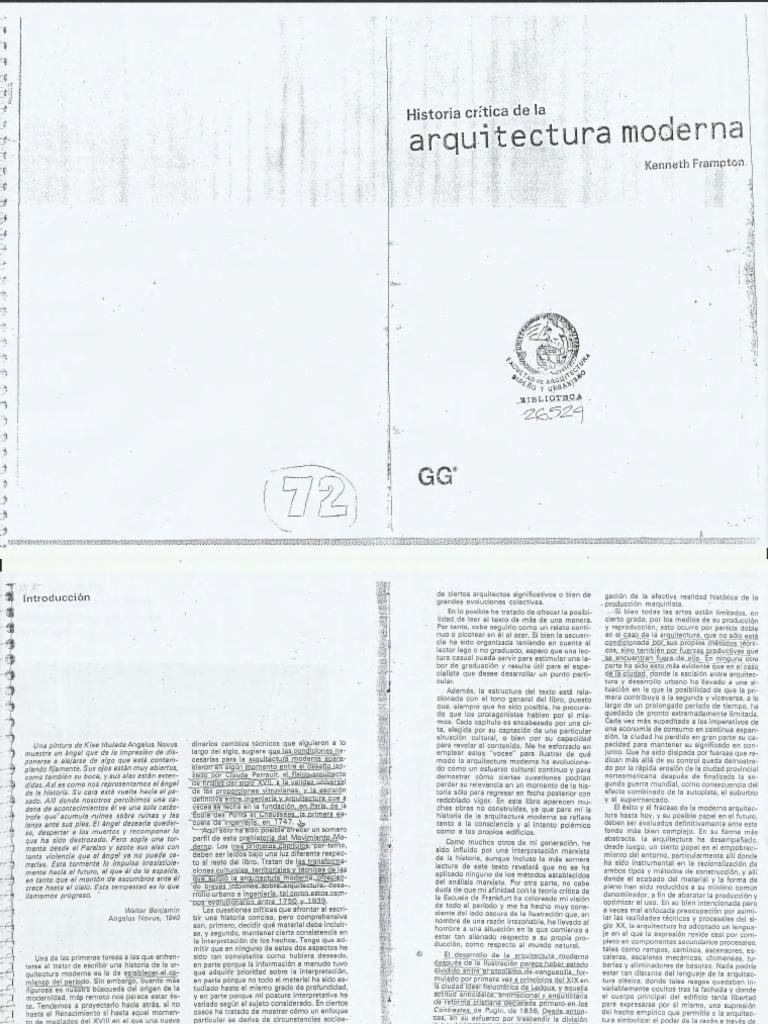 historia critica de la arquitectura moderna kenneth frampton pdf
