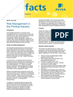 HSE Risk Management in the Printing Industry
