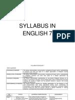 356605123 English Grade 7 Syllabus PDF