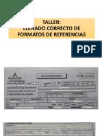 Llenado Correcto Formato Referencia Minsa Perú