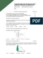 Examen de Recuperacion Segundo Bimestre Matematicas Yangas
