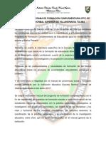 Manual Del Programa de Formación Complementaria de La Escuela Normal Supeiror de Villahermosa 2018