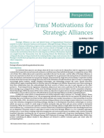 Firms' Motivations for Strategic Alliances