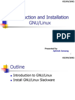 Introduction and Installation Linux
