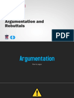 HF03 Argumentation and Rebuttals