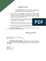 Affidavit of Loss (Loan Receipt Cellphone) Cherry Lapined