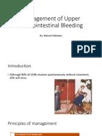 Management of Upper GI Bleeding