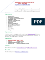 International Journal of Advances in Biology (IJAB)ecfp
