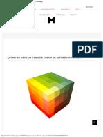 colores cubo