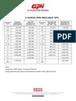 Price List Pipa Besi SPS