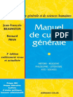 Manuel de Culture Generale - Jean-Francois Braunstein