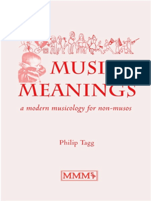 Music's Meanings Philip Tagg | Harmony | Semiotics