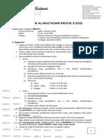 Rulebook Kristal 8 2018