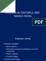 DUREREA IN TERITORIUL ORO-MAXILO-FACIAL.pptx