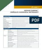 Surpac Modules Overview Geovia Datasheet 6.8
