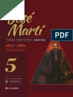 José Martí-Obras completas. Edición crítica. Tomo 5 (1877-1880 México, Cuba, Guatemala y Estados Unidos volumen 1)-Centro de Estudios Martianos. CLACSO (2016).pdf