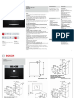 Bosch CTL636ES1 Coffee Machine Specifications Sheet